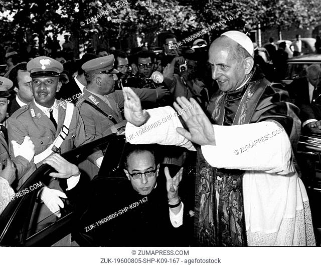 Aug. 5, 1960 - Location Unknown - POPE PAUL Vl (1897-1978) reigned as Pope of the Catholic Church and Sovereign of Vatican City from 1963 to 1978