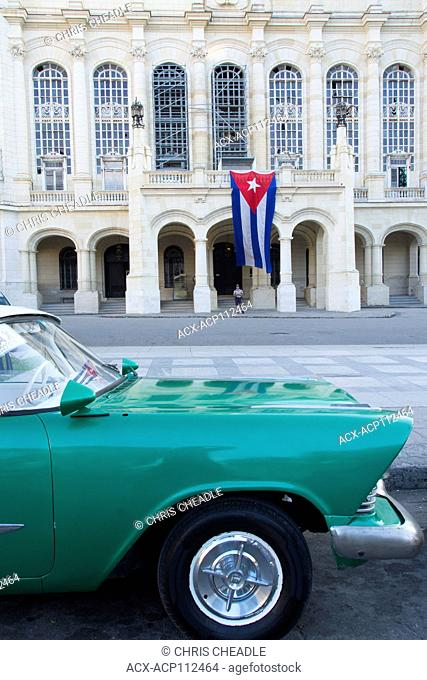 The Museum of the Revolution, Classic car, Habana Vieja, Old Havana, Cuba, Habana Vieja, Old Havana, Cuba