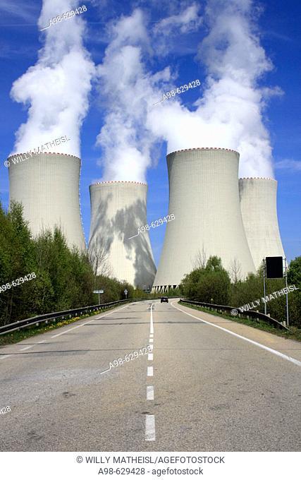 Nuclear power station. Temelin. District of Budweis. South Bohemia, Czech Republic