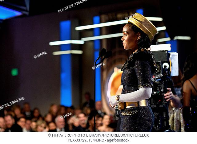 Janelle Monae at the 76th Annual Golden Globe Awards at the Beverly Hilton in Beverly Hills, CA on Sunday, January 6, 2019