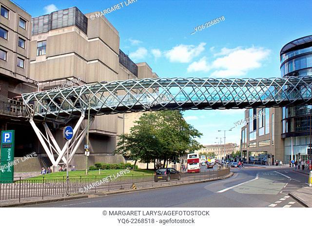 Modern architecture in the streets of Edinburgh, Scotland