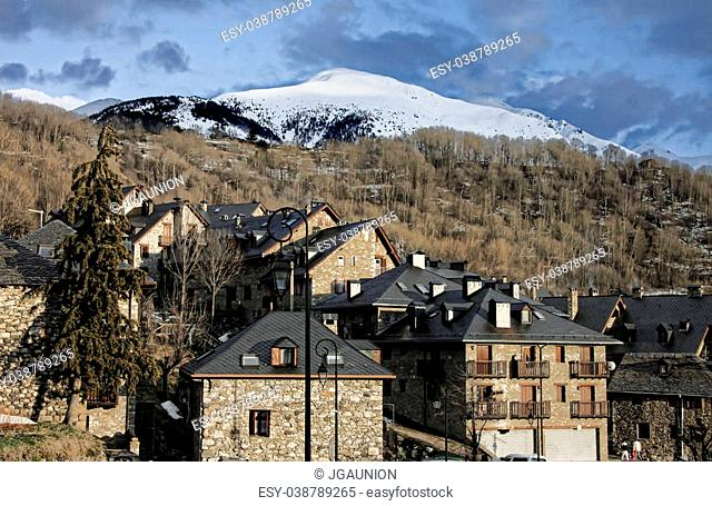 Mountain resorts at Vall de Boi, a narrow, steep-sided valley and a small municipality in the province of Lleida, in the autonomous community of Catalonia
