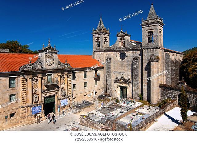 Monastery-Hotel of Santo Estevo de Ribas de Sil (10th century), Nogueira de Ramuin, Orense province, Region of Galicia, Spain, Europe