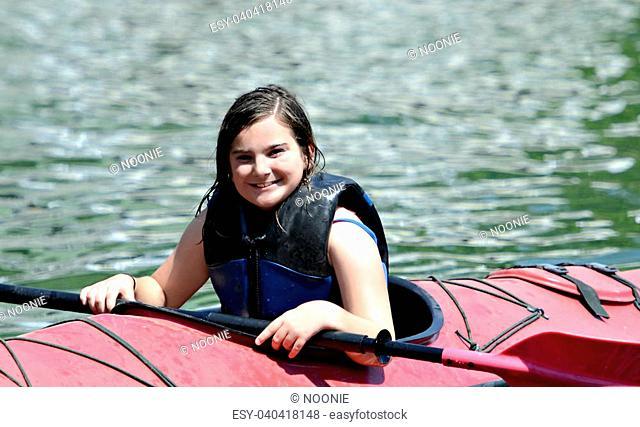 Young Girl in Kayak