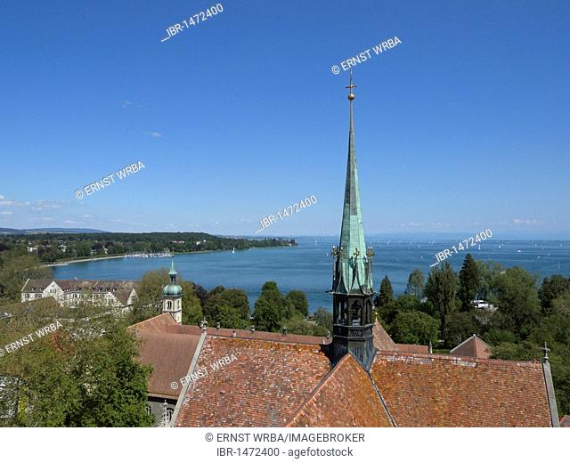 View from the Cathedral of Constance, Konstanz, Lake Constance, Baden-Wuerttemberg, Germany, Europe