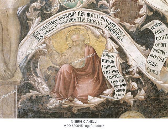 The Tree of the Cross (L'Albero della Croce), by Taddeo Gaddi, 1335 - 1340, 14th Century, fresco. Italy, Tuscany, Firenze, Basilica of Santa Croce