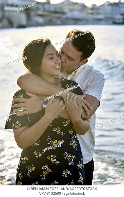 Greece, Crete, Hersonissos, couple, kissing