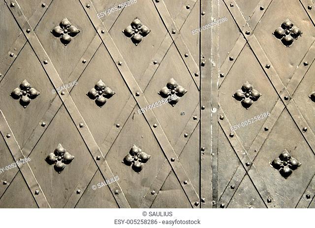 background steel blacksmith handmade door gate