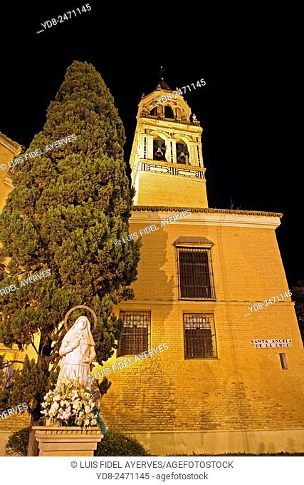 Monument to Angela of the Cross by the Church of San Pedro in Seville, Spain