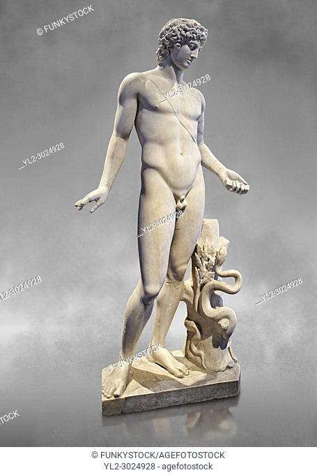 Roman statue of Apollo. known as the Chigi Apollo, mid 2nd cent. AD from the Imperial Villa, Rome. As suggested by the quiver strap slung across the body