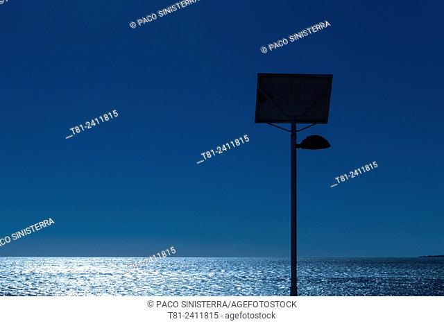 Lamp with solar panel energy, Valencia