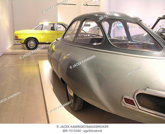 Panhard Dynavia and NSU RO 80, Mitomacchina exhibition, Museum of Modern Art, MART, Rovereto, Italy, Europe