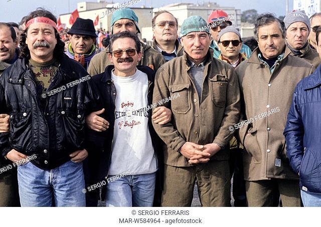 ilva workers demonstration, 1993