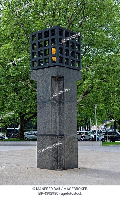 eternal flame, Platz der Opfer des Nationalsozialismus, Victims of National Socialism Memorial, Munich, Bavaria, Germany