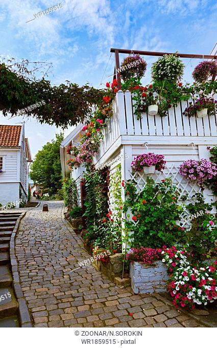 Street in old centre of Stavanger - Norway