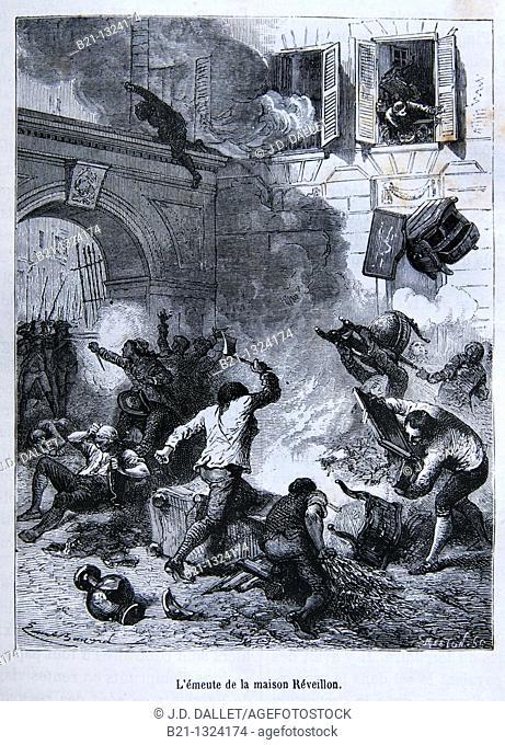 Réveillon Riot on 28 April 1789 in the St. Antoine district of Paris, France