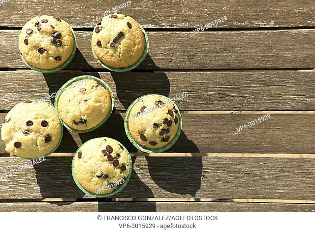Homemade muffins with natural products. Horizontal shot with natural light