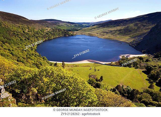 Lough Tay near Ballyhorrigan, below Luggala Mountain,