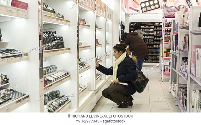 A new branch of the make up and beauty chain, Ulta Beauty, located in the Upper East Side neighborhood of New York on its grand opening day, Friday, November 10