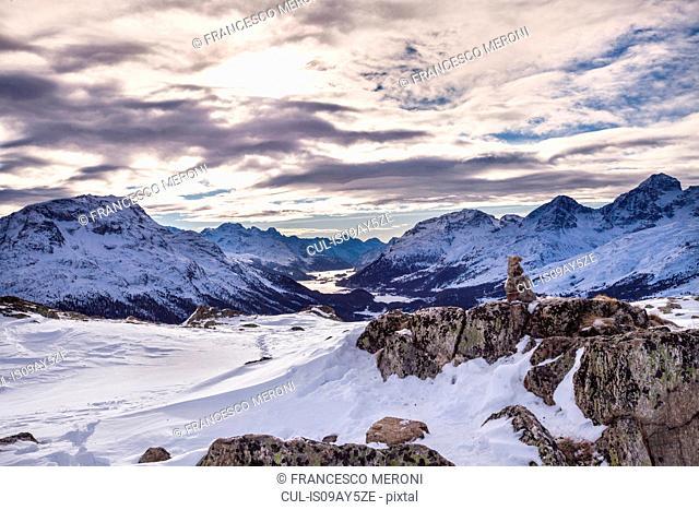 Winter landscape, Engadine, Switzerland