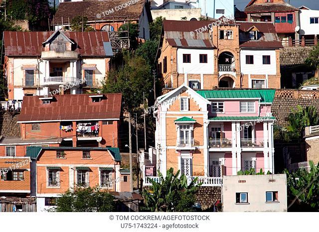 Housing in Haute-Ville, Antananarivo, Madagascar