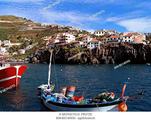 harbour in fishing village of Camara dos Lobos on Madeira, Portugal, Madeira