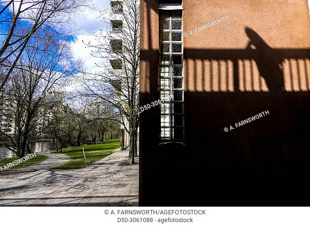 STOCKHOLM, SWEDEN Abstract shot of shadow on Blekholmsstranden in the downtown area