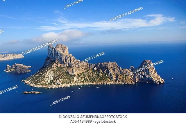 Natural Area. Es Vedra y Es Vedranell. Small barren islands. Ibiza. Balearic Islands. Spain