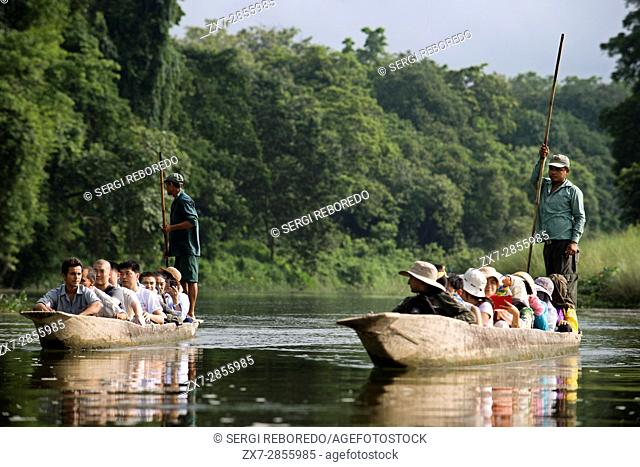 Tharu chitwan national park nepal Stock Photos and Images | age