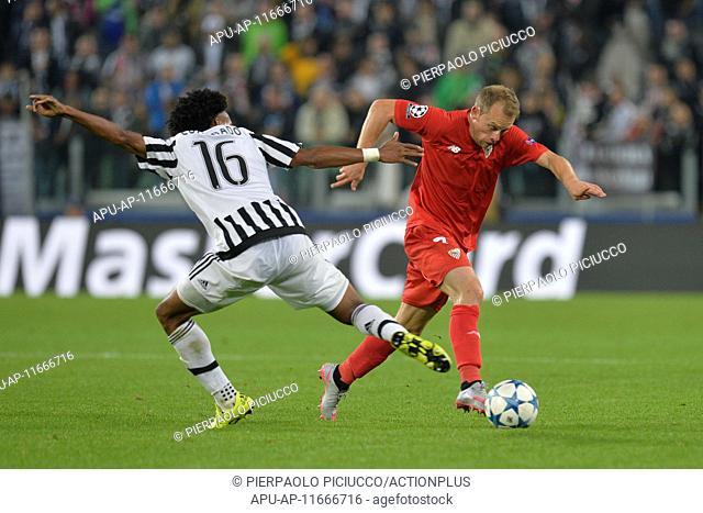 2015 Champions League Football Juventus v Sevilla Sep 30th. 30.09.2015. Turin, Italy. Champions League Football. Juventus versus Sevilla