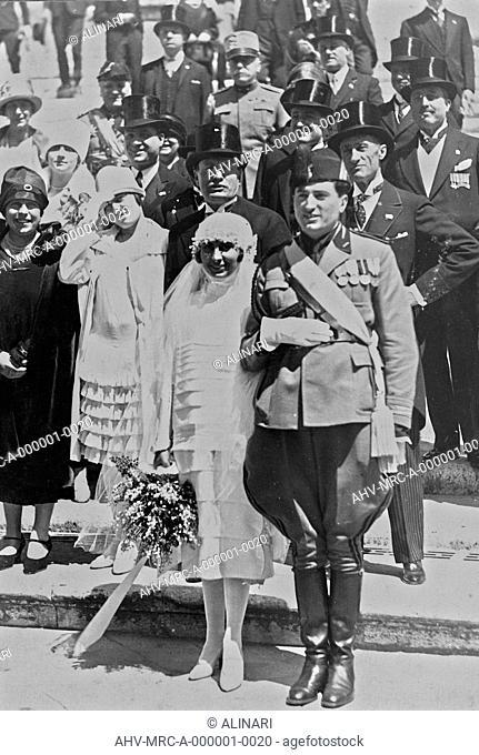Album Duce : Marriage of Edda Mussolini, the daughter of Benito, with Galeazzo Ciano in Rome on April 24, 1930, shot 24/04/1930