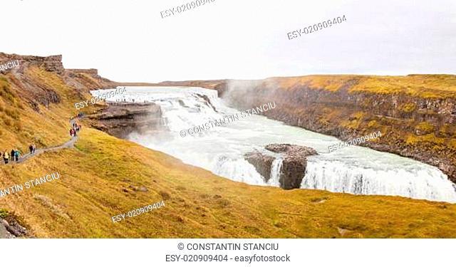 Gullfoss waterfall on Hvita river - Iceland