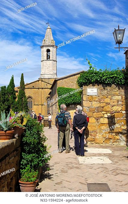Pienza, Val d'Orcia, Orcia Valley, UNESCO world heritage site , Siena Province, Tuscany, Italy