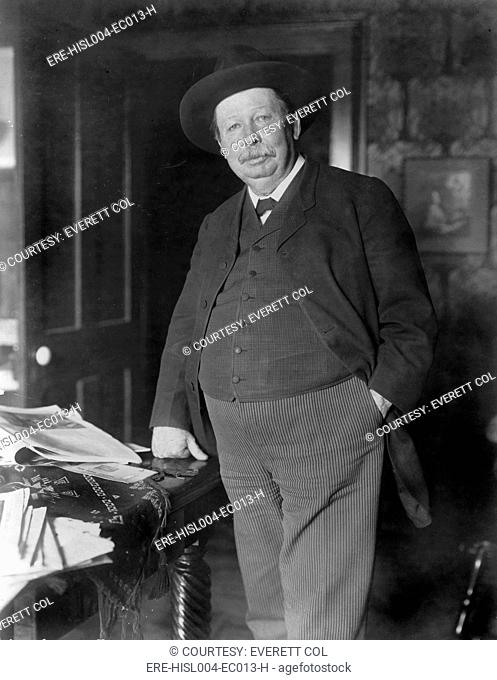 Joel Chandler Harris 1948-1908 American journalist and humorist used slave dialects to create the characters of Uncle Remus and Brer Rabbit. Ca. 1900
