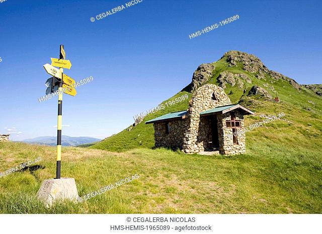 Bulgaria, Plovdiv region, Stara Planina, Central Balkan National Park, Chapel at Zhelezni Vrata pass