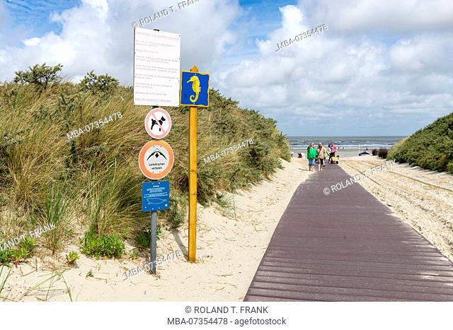 Germany, Lower Saxony, East Frisia, Juist, path to the beach