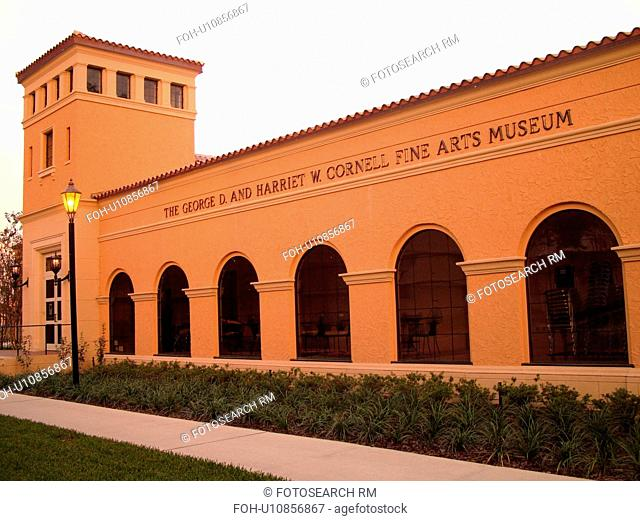 Winter Park, FL, Florida, Orlando, downtown, Rolling College Campus, The George D. and Harriet W. Cornell Fine Arts Museum, Mediterranean Style brick building