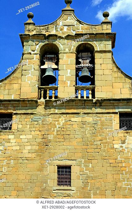 bells of the church of Santa Maria, Folgueroles, Osona, Catalonia, Spain