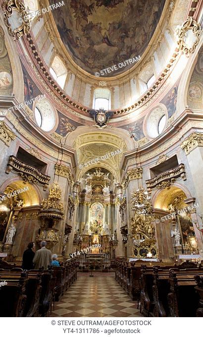 Interior of Peter's Church Peterskirche Vienna, Austria