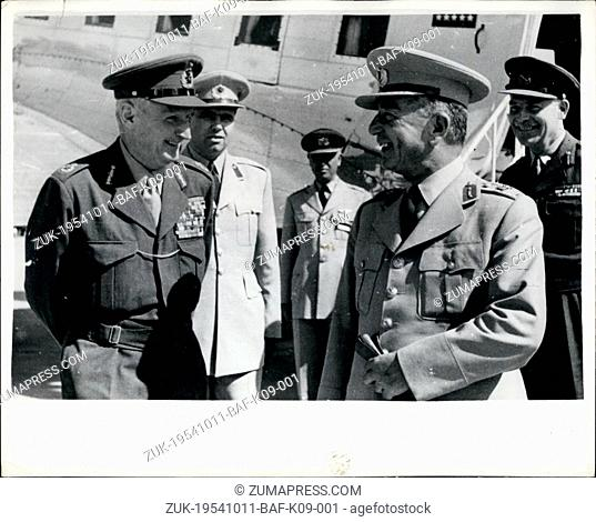 Oct. 11, 1954 - 11.10.54 Field Marshal Viscount Montgomery in Turkey ?¢'Ǩ'Äú Field Marshal Viscount Montgomery, the Deputy Supreme Allied Commander