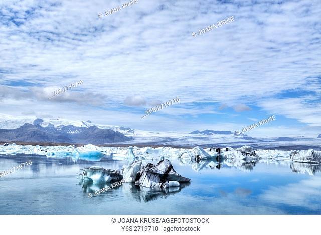 Jokulsarlon, Iceberg, Vatnajokull National Park, Breidamerkurjokull glacier, Iceland