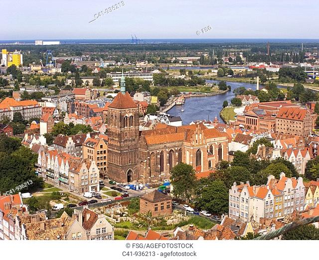 Overview of Gdansk, Poland