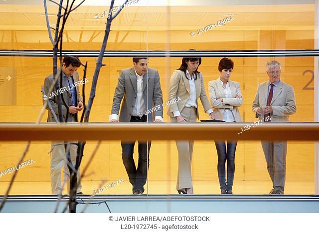 Executives at Convention Centre, Business, Donostia, San Sebastian, Basque Country, Spain