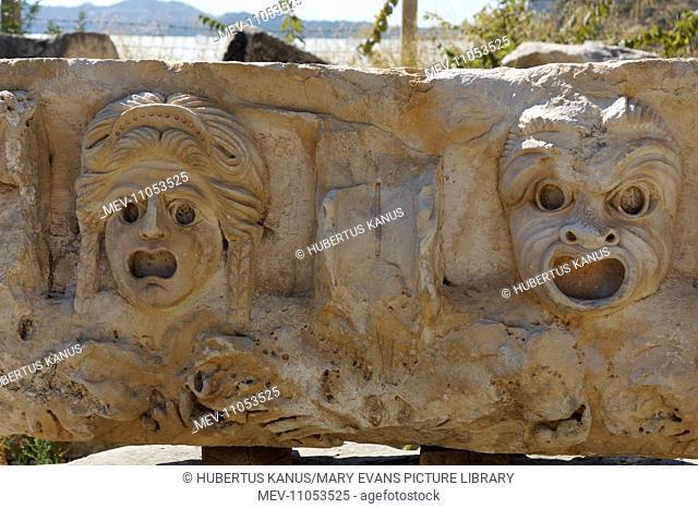 Turkey, Lykia, Myra: Stone carvings ('masks')