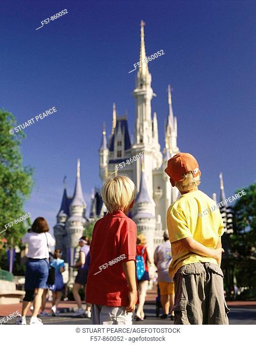 Cinderella's Castle, Disneyworld, Orlando, Florida, USA