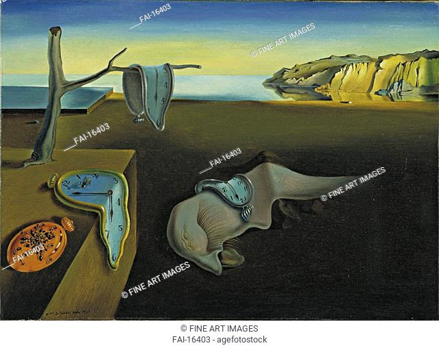 The Persistence of Memory. Dali, Salvador (1904-1989). Oil on canvas. Surrealism. 1931. © Museum of Modern Art, New York. 24,1x33. Painting