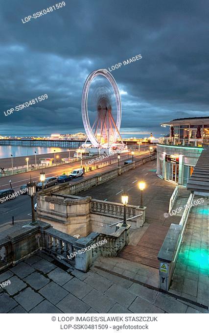 Dusk on Brighton seafront