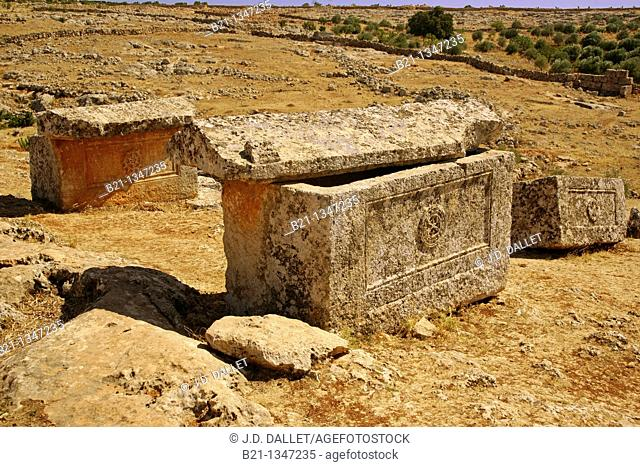 Sarcophagi from Byzantine period (5th-6th century), Serjilla, Syria