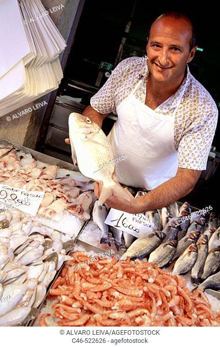 Fish market. Campo della Pescaria market. Venice. Veneto, Italy