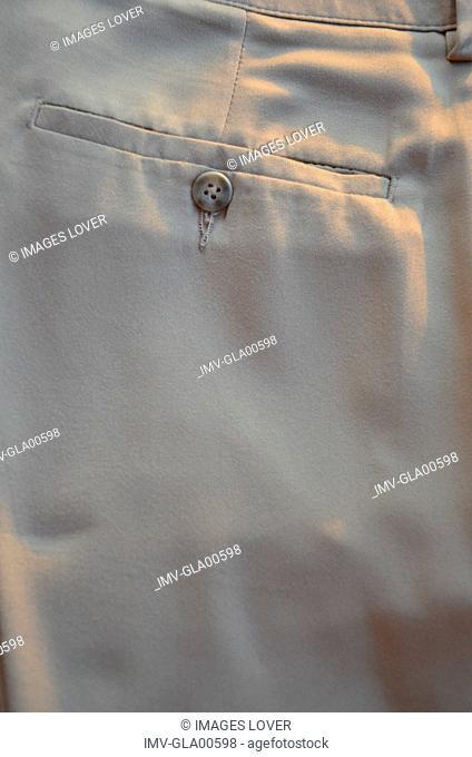 Pants pocket, rear view, close-up